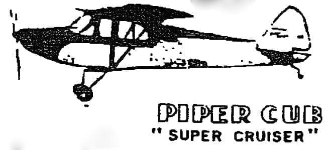 Piper Cub Super Cruiser Model Pa